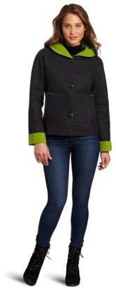 Kristen Blake Women's Hooded Button Front Jacket