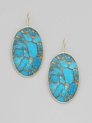 Ippolita Turquoise & 18K Gold Oval Drop Earrings