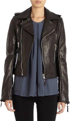Balenciaga Lambskin Biker Jacket-Black