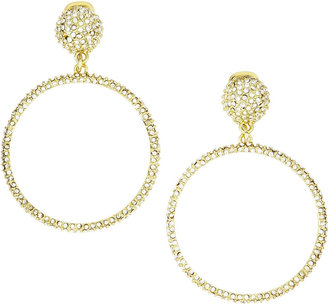 Fragments for Neiman Marcus Montana Pave Hoop Earrings, Clear
