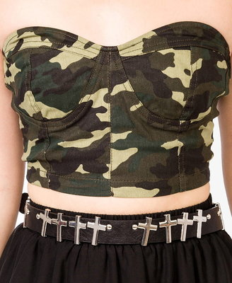 Forever 21 camo tube top