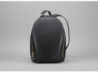 Louis Vuitton excellent (EX Black Epi Sac A Dos Ellipse Backpack