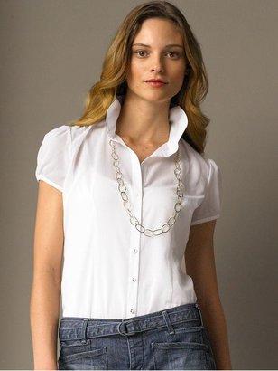 Banana Republic Cotton ministripe blouse - White