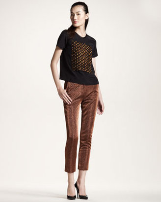 Opening Ceremony Metallic Cropped Trousers