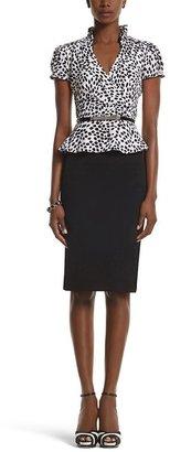 White House Black Market Peplum Two-Fer Dress