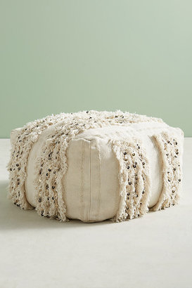 Anthropologie Moroccan Wedding Pouf By in White Size ALL