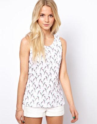 A/Wear A Wear Parrot Print Vest Top