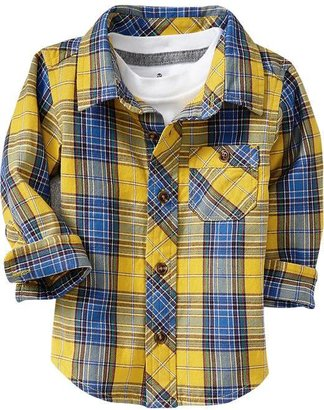 Old Navy Plaid Twill Shirts for Baby