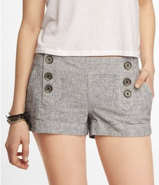 Express 2 Inch Linen Blend Sailor Shorts