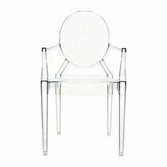 Kartell Ghost Stacking Patio Dining Armchair (Set of 4 Upholstery: Transparent Crystal Clear