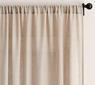 Pottery Barn Belgian Flax Linen Sheer Curtain - Flax
