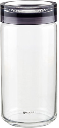 Container Store 1.6 qt. Grigio Glass Canister Grey Acrylic Lid