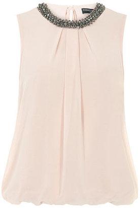 Dorothy Perkins Blush embellished neck top