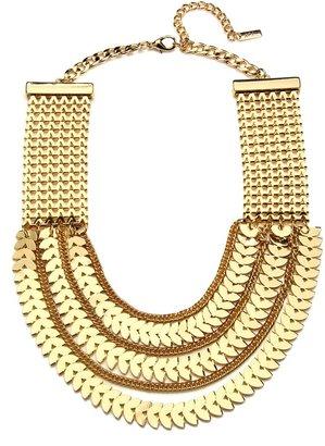 Charm & Chain Piper Strand Gold Chevron Bib