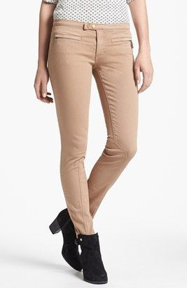 Tory Burch 'Ellie' Colored Skinny Stretch Jeans (Almond)