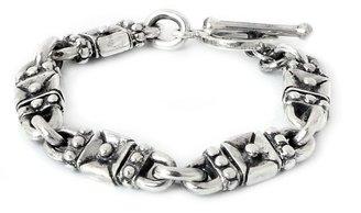 """Novica Artisan Crafted Sterling """"Lock and Key""""Link Bracelet"""