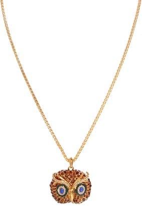 Kenneth Jay Lane Owl Charm Necklace