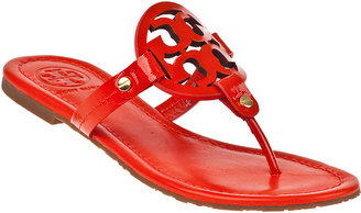 Tory Burch Miller Thong Sandal Flame Red Patent