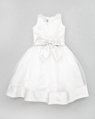 Joan Calabrese Two-Tone Tea-Length Dress