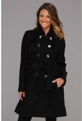 DKNY Double Breasted Wool Trench (Black) - Apparel