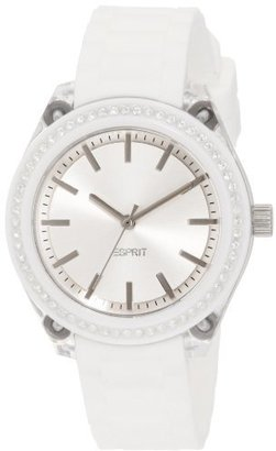 ESPRIT Women's ES900672013 Play Glam White Analog Watch $130 thestylecure.com