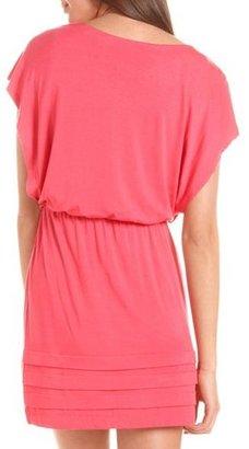 Charlotte Russe Bottom Pleat Boatneck Dress