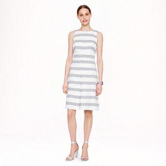 J.Crew Tall stripe basket-weave dress