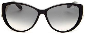 Roberto Cavalli Women&s Oversized Plastic Sunglasses $290 thestylecure.com