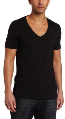 G Star G-Star Men's Base HTR Short Sleeve V-Neck T-Shirt