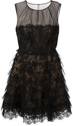 Oscar de la Renta lace ruffled dress