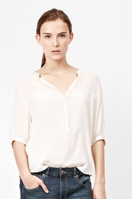 French Connection Glacier Silk Shirt