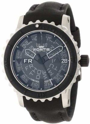 Fortis Men's 675.10.81 L.01 B-42 Big Black Rotating-Bezel Stainless Steel Watch