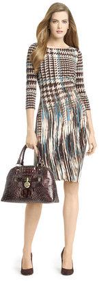 Anne Klein Pleated Jersey Sheath Dress