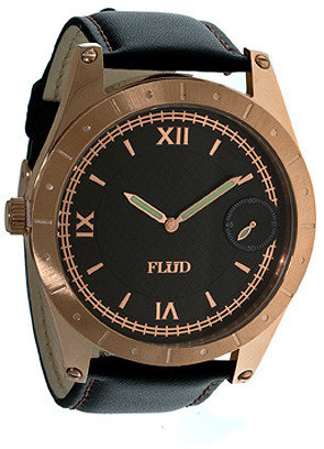 Flud Watches The Big Ben Watch With Interchangeable Bands in Rose & Black