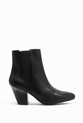 Ash Matte Black Leather Obsession Cuban Heel Ankle Boots