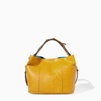 Zara Bucket Bag With Zip