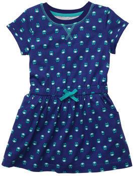Carter's Short-Sleeve Jersey Owl Dress