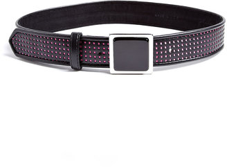 Milly Black Belt With Silver Square Buckle