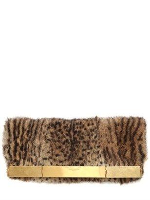 Saint Laurent Courtney Marmotta Fur Clutch