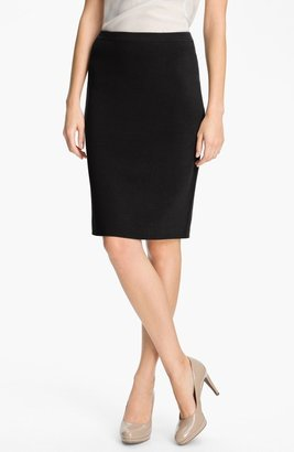 Eileen Fisher Silk Blend Knit Straight Skirt (Petite)