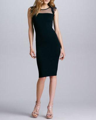 RED Valentino Jersey Point d'Esprit Dress, Black