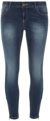 Dorothy Perkins Midwash zip ankle grazer jeans