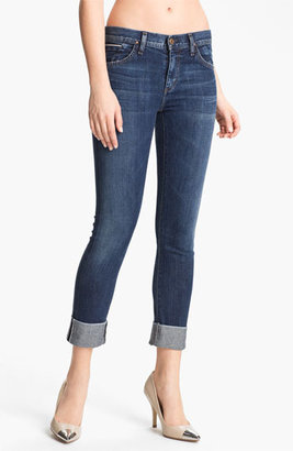 Gold Sign 'Jenny' High Waist Crop Skinny Jeans (Debut) Womens Debut Size 25 25