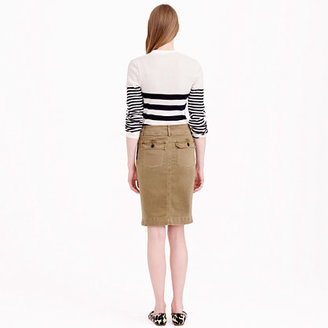 J.Crew Washed pencil skirt