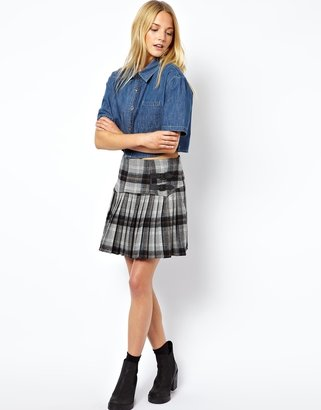 Asos Mini Skirt in Tartan - Grey