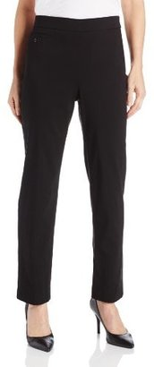 Sag Harbor Women's Petite Millenium Pull On Pant with Slim Panel and Coin Pocket