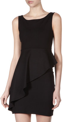 Susana Monaco Nicole Asymmetric Peplum Dress, Black