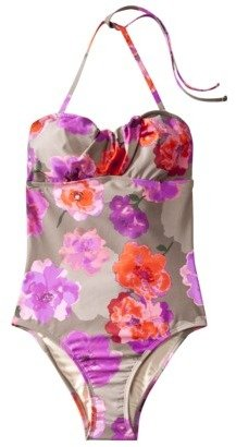 Merona Womens 1-Piece Swimsuit - Multicolor Floral Print
