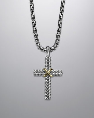 David Yurman Chevron Cross Necklace