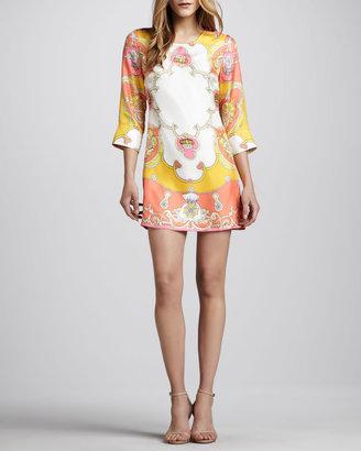 Julie Brown Printed Shift Dress